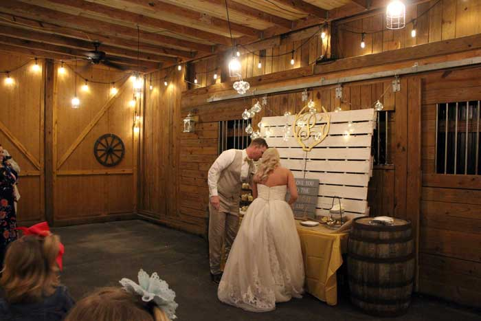Barn at Moonlight Fields wedding farm