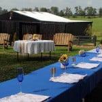 reception at KY wedding farm