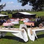 Rustic wedding farm venue